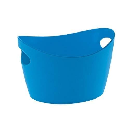 Koziol Bottichelli Panier de rangement, Bleu Caraïbes, 450 ml