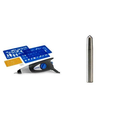 Dremel Grabadora Hobby 290-3/4 - Herramienta compacta (35 W, 3 accesorios, 4 plantillas) + 9929 - Punta grabado de diamante para DR 290 Grabadora