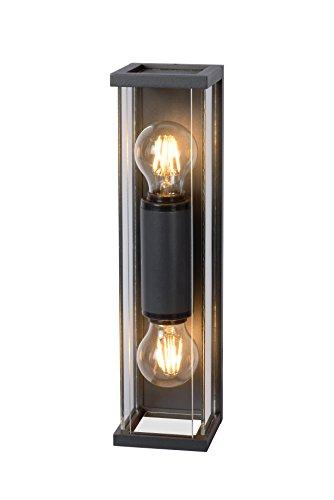 Lucide CLAIRE MINI - wandlamp buiten - E27 - IP54 - antraciet