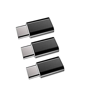 USB C Adapter,Type C to Micro USB Converter[3-Pack],Weduda Coverts Type C USB (Male) input to Micro USB (Female) Uses 56K Resistor for Samsung S9/8/Plus/Note8,Macbook and More USB-C Devices(Black)