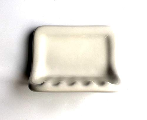 Squarefeet Depot Bath Accessory Shower Soap Dish Almond Ceramic Thinset Mount 6-1/2' x 4-7/8'