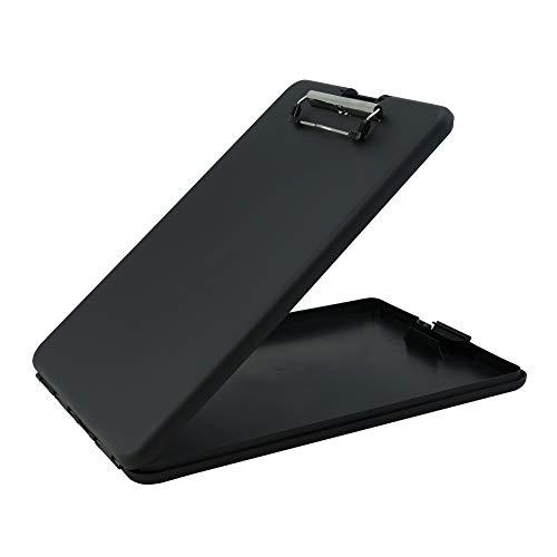Läufer 00558 SlimMate Portable Desktop Klemmbrett mit Innenfach, für DIN A4 besonders flach, abgerundete Ecken, oben öffnend, Kunststoff, schwarz