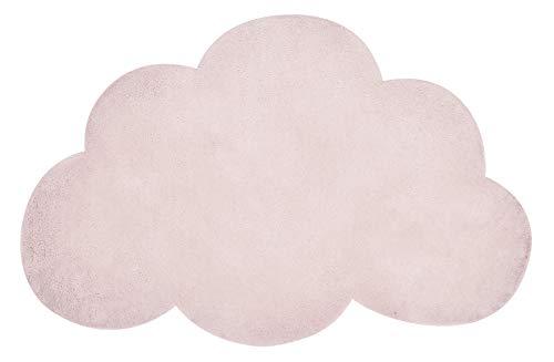 Teppich aus Baumwolle, Violett, 64 x 100 cm, Wolkenform, Farbe Hellbraun