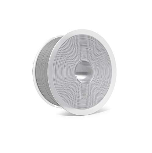 BQ Easy Go - Filamento PLA de 1.75 mm (100% PLA, resistente a la acetona, rápido endurecimiento) color gris ceniza