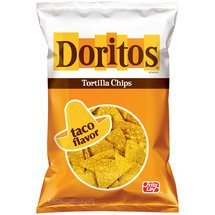 Doritos Taco Flavor Tortilla Chips, 9.75 oz (7 Pack)