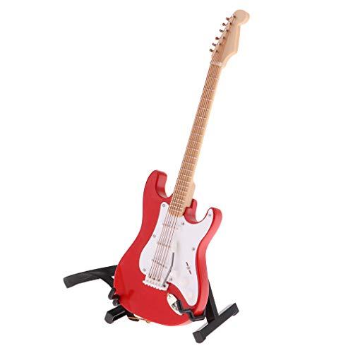 F Fityle Modelo Guitarra Eléctrica en Miniatura para Muñecas Escala 1/6 -...