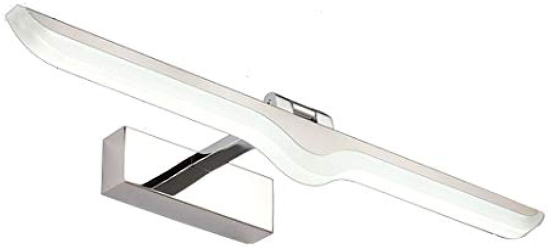 Edelstahl Spiegel Scheinwerfer LED Badezimmer Badezimmer Wand Lampe einfache moderne wasserdichte Spiegelschrank Beleuchtung, weies Licht, 42cm 9W