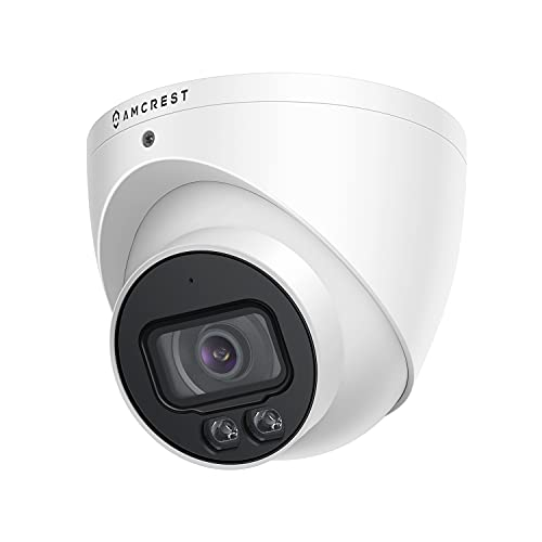 Amcrest Night Color AI Turret IP PoE Camera w/ 98ft Full Color Nightvision, Security IP Camera Outdoor, Built-in Microphone, 256GB MicroSD Storage (Sold Separately), 98° FOV, 5MP@20fps IP5M-T1273EW-AI