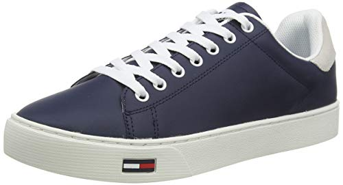 Tommy Hilfiger Essential Tommy Jeans Sneaker, Zapatillas Hombre, Azul (Twilight Navy C87), 41 EU