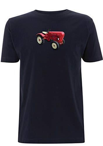 Diesel Super Traktor T-Shirt luftgekühlt Motor Farmer Pflug Vintage Deutsche Landwirtschaft Herren Gr. XXL, Marineblau