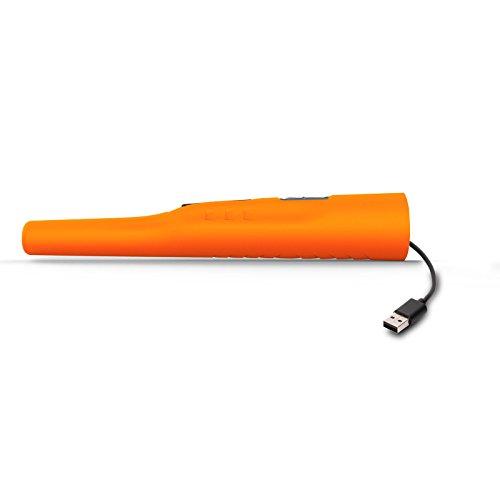 Deteknix Wader Li - Detector de Metales Impermeable con batería de Ion de Litio, Color Naranja