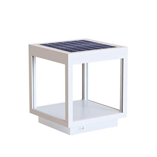 Beneito Faure VISOR - Lampada solare a LED da esterno/giardino, lanterna da tavolo con batteria in alluminio, 3,5 W, 120°, colore: Bianco