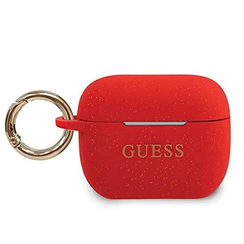 Guess GUACAPSILGLRE - Cover per AirPods Pro, in silicone, colore: Rosso