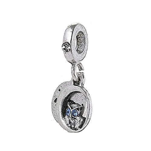 LILANG Pandora 925 Pulsera de joyería Natural Boosbiy Pc Lindo búho Colgante Cuentas de abalorio Collares de Marca Accesorios Que Hacen Mujeres Regalos de Bricolaje
