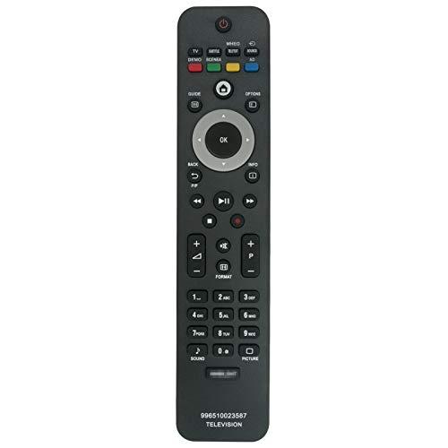 VINABTY 996510023587 Mando a Distancia para Philips TV 19PFL5404H/12 47PFL5604H/10 32PFL5604H/12 42PFL5604H/10 32PFL5404H/12 32PFL5604H/10 47PFL5604H/10 22PFL5604H/12 47PFL7404H/60 47PFL5604H/12