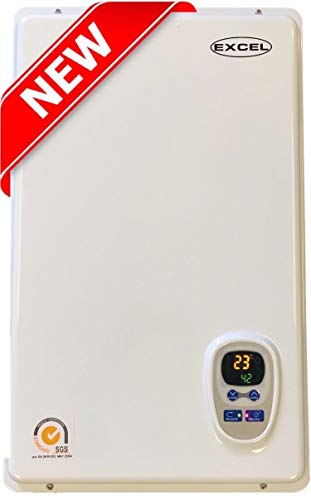 Excel Pro Tankless Gas Water Heater NATURAL GAS 6.6 GPM Whole House and for Hydronic heating Compare to Rinnai, Rheem,Noritz, Bosch FREE FLUE KIT
