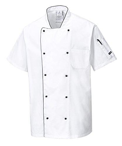 Portwest C676 - Chaqueta aireado Chef, color Blanco, talla Large