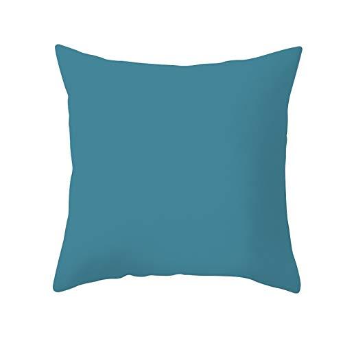 Funda de Cojín Decorativos Funda de Almohada Azul Cuadrado Terciopelo Suave Cojines Decoracion con Cremallera Invisible para Sofá Cama Decoración Hogar Funda de Cojín M7514 Pillowcase,45x45cm