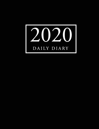 2020 Daily Diary: Black Cover | 2020 Calendar Time Schedule Organizer for Daily Diary One Day Per Page | 365 Days Appointment Book and Hourly 7.00am - ... Daily 12 Months January 2020 - December 2020)