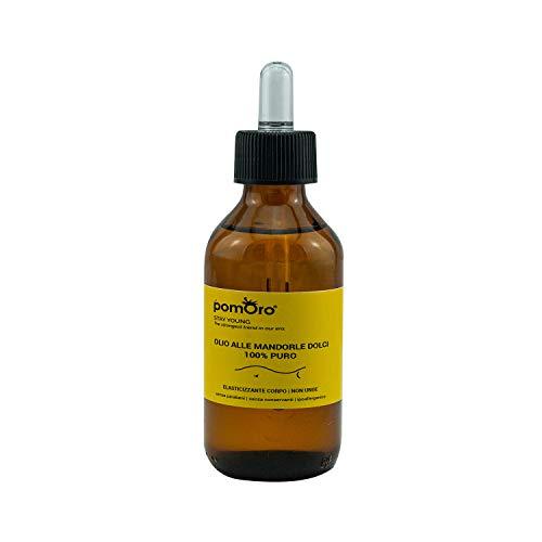 POMORO - Olio Essenziale di mandorle dolci - 100ml - 100% olio naturale puro e di alta qualità, ideale per massaggi, per il corpo, aromaterapia, profumazione gli ambienti, corpo, erotico, afrodisiaco,