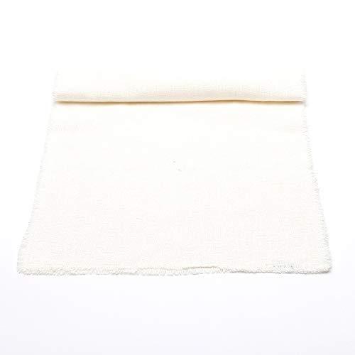 LinenMe Chemin de Table, Collection Rustic, 45x250cm, Blanc cassé