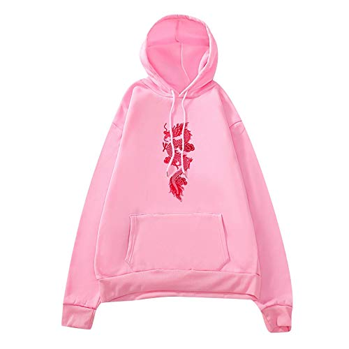 SHUANGA 2021, Damen Hoodie Vintage Reißverschluss Sweatshirt Samt Loose Winter Jacke Langarm große Tasche Fleece Outwear Mit Kapuze Kurzmantel