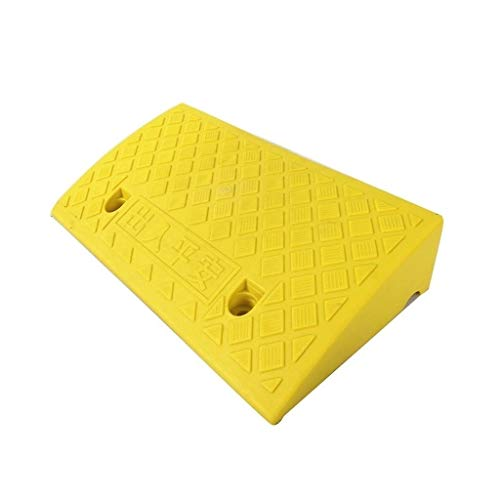Goede kwaliteit 11/13 cm gekleurde kunststof driehoekige pads, opvallende oprijbrug apartment hotel drempel grasmaaier caravan uphill pad praktisch 50 * 27 * 11CM geel
