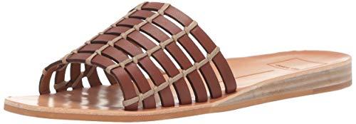 Dolce Vita Women's COLSEN Slide Sandal, Brown Leather, 5.5 M US