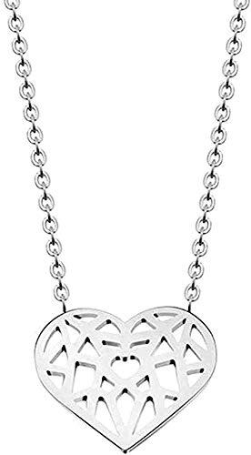 ZGYFJCH Co.,ltd Collar para Mujeres Hombres Collar Origami corazón Amor Collares Colgante Mujeres joyería Bohemia Dama de Honor Regalos Collar Colgante Cadena para Mujeres Hombres