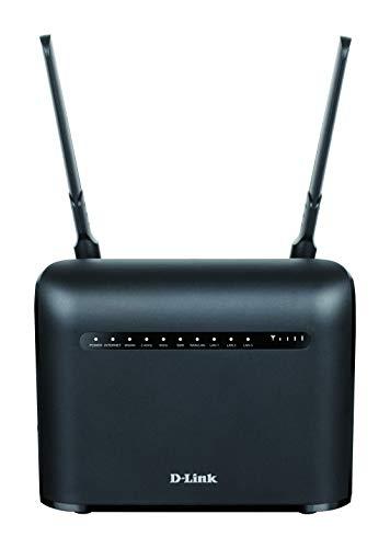 D-Link DWR-953V2 Router LTE Wireless AC1200 Cat4, Download fino a 150 Mbps, 4 Porte Gigabit, Porta Internet Gigabit, Antenne Esterne, Sbloccato