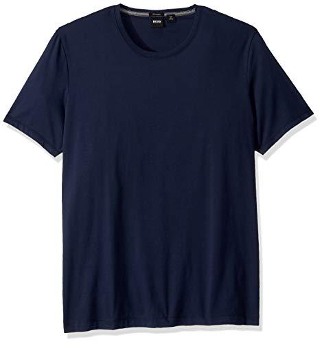 Hugo Boss BOSS Men's Tiburt Short Sleeve Crewneck T-Shirt, Navy, Medium