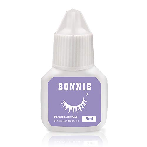 Eyelash Extension Glue for both Self and Professional Applications|Tasteless Non-Stimulating | 3-5 Sec Drying Time | Retention 20-25 Days | Sensitive Black Eyelash Glue by Bonnie, 5ml