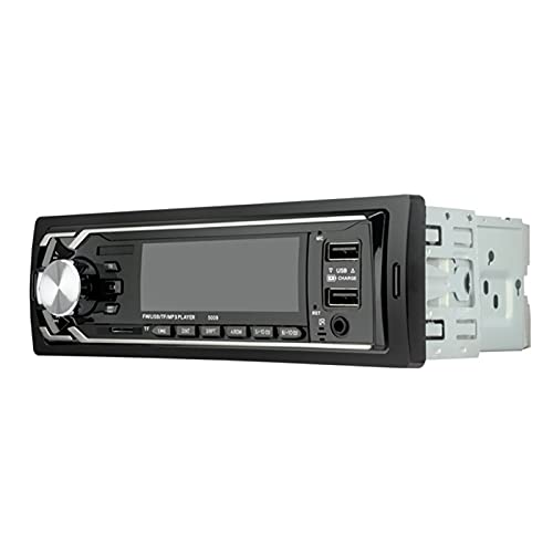 Mothcattl 5009 Estéreo De Coche De 12 V con Bluetooth, Doble USB De Carga Rápida Manos Libres con Disco AUX/U/Altavoz De Radio FM Reproductor De MP3 Colorido Negro