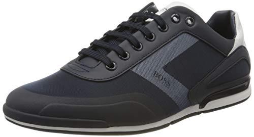 BOSS Herren Saturn_Lowp_act4 Sneaker, Blau (Dark Blue 401), 43 EU