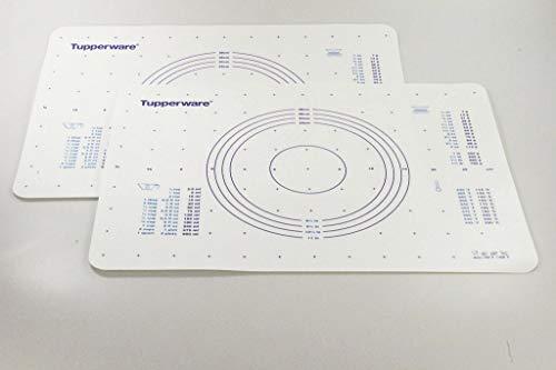 TUPPERWARE Backen Teigunterlage (2) blau für Knete Fix&Fertig Backunterlage