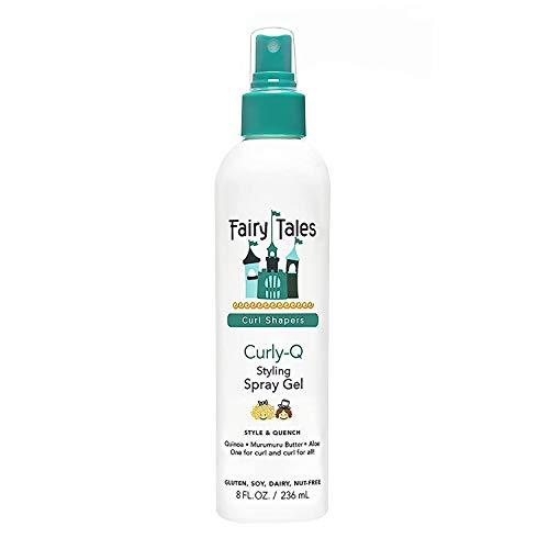 Fairy Tales Curly-Q (Curly Hair Gel) Daily Kid Styling Spray Gel – für lockiges Haar – Parabenfrei, Sulfatfrei, Glutenfrei, Nussfrei – 227 g