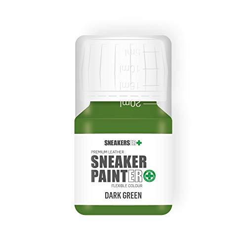 SNEAKERS ER SneakerPainter Premium - Pintura flexible para zapatos de piel (30 ml), color verde oscuro