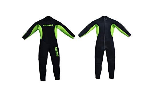 Kounga Dw 3.2 Traje para Surf y Buceo, Unisex niños, Negro/Verde, 14
