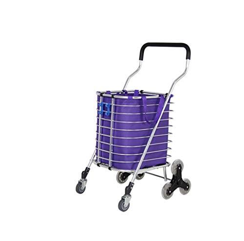 Einfache Idee Oversized Shopping Cart Little Ziehen Sie Das Auto Warenkorb Falten Tragbare Alte Aluminium-Schubkarre Hand Truck, T-C