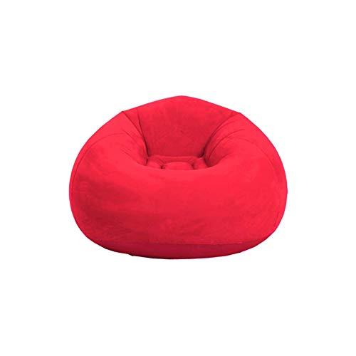 ZHANGLI - Puf plegable plegable con flocado, sofá inflable – Sala de estar al aire libre silla de puf tumbona ultra suave inflable perezoso sofá sofá