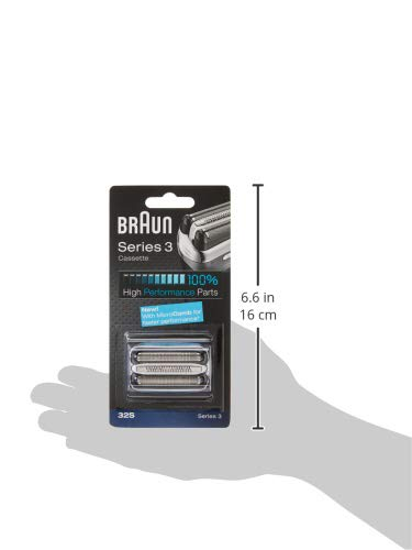 Braun Series 3 32S Electric Shaver Head Replacement Cassette - Silver