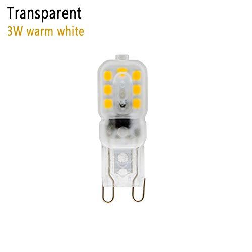 Lampadina LED G9, AC 220 V-240 V, 5 W equivalente a lampadine alogene da 40 W, 6000 K, luce bianca fredda, lampadina a risparmio energetico non dimmerabile. Warm White2