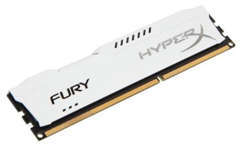 HyperX Fury White Series Memorie RAM, 8 GB, 1600 MHz, DDR3, Bianco