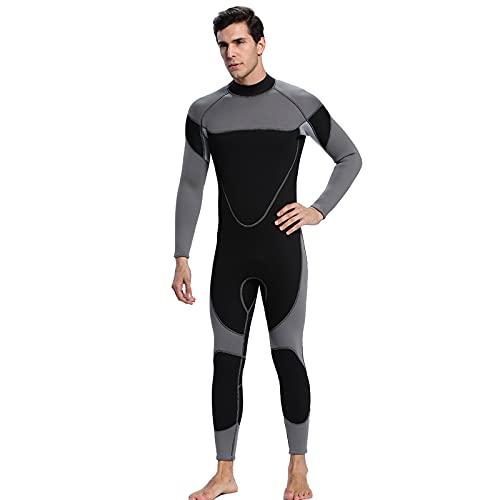 HUOFEIKE Traje De Neopreno De 3 Mm para Hombres, Adultos Engrosados En El Traje De Surf Frío Nadando Triatlón Triola De Buceo Traje De Buceo Traje De Lycra Tablero De Surf Kayak,XXL