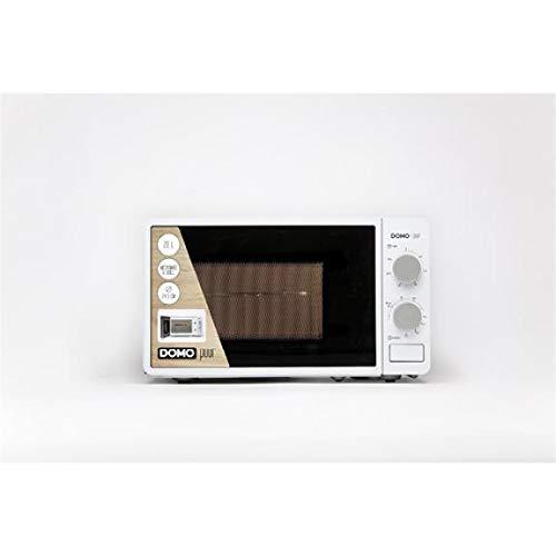 Domo DO2328G Comptoir - Micro-ondes (Comptoir, Micro-ondes grill, 20 L, 700 W, Rotatif, Blanc)