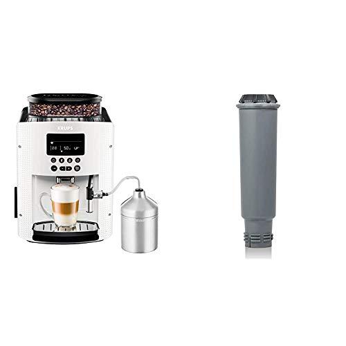 Krups EA8161 Kaffeevollautomat (1,8 l, 15 bar, LC Display, AutoCappuccino-System), weiß & F 088 01 Wasserfilter f. alle Orchestro-Modelle Espresso-/Kaffeemaschinenzubehör