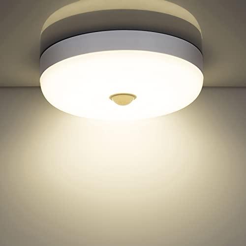 Combuh Plafones LED con sensor de movimiento, 15w 1500LM 4000K blanco natural Moderna redondo...