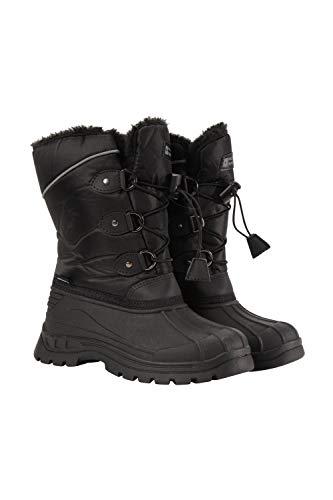 Mountain Warehouse Whistler Kids Snow Boots - Warm Winter Boots Black Kids Shoe Size 6 US