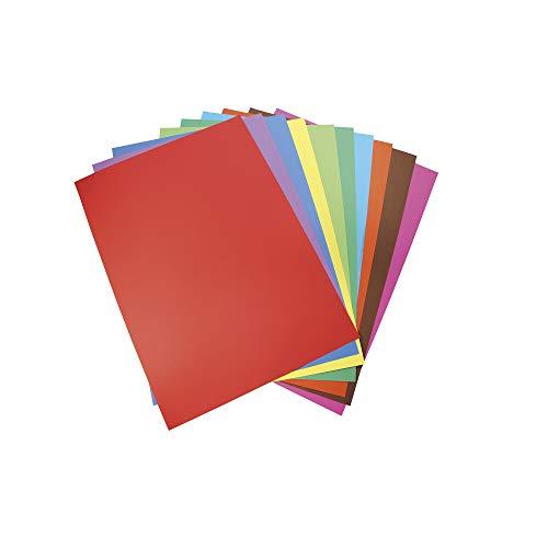 Clairefontaine 454199C - Un paquet de 100 feuilles de papier Carta 21x29,7 cm 210g, couleurs assorties
