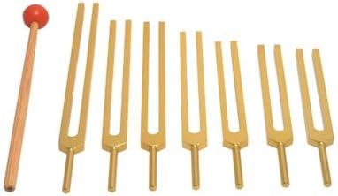 TFS Sale price Tuningforkshop Gold Finish 7 Tuning Fork Free Shipping Cheap Bargain Gift Chakra Set